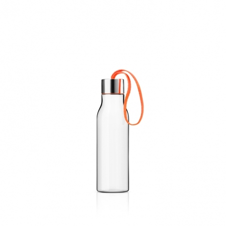 Eva solo - Drikkeflaske, Polished steel, orange 0,5l.